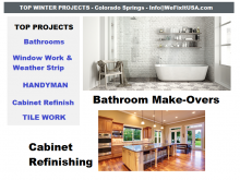 Colorado Springs Best Bathroom Repair and Service Company - 30+ Years Offering All Types of Handyman Services, Bathroom Repairs, Residential Bathroom Remodeling Services, Maintenance and Installations.