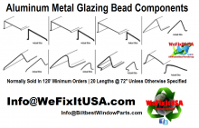 Aluminum All Metal Snap In Window Door Glazing Bead Parts For residential and Commercial Use.